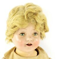 "Vintage Composition 18"" Shirley Temple Doll In Original Clothes, Eyes Close Open"