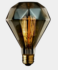 Globe Designer DIAMENTE Amber Glass BR30 Decorative Bulb 40 watts E26 84644 NEW