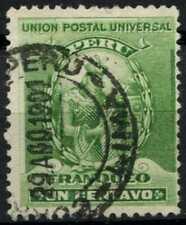 Peru 1896-1900 SG#336, 1c Green, Atahualpa Used #E1253