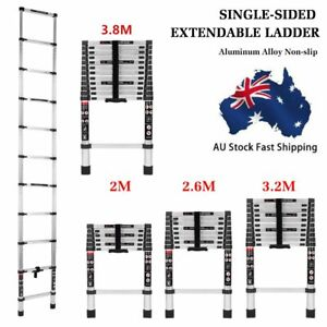 2/2.6/3.2/3.8M Telescopic Aluminium Ladder Extension Extendable Step Adjustable