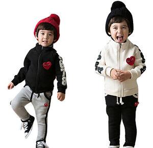 kids children boy girl jacket trousers sport suit tracksuit outwear 2 - 9 years
