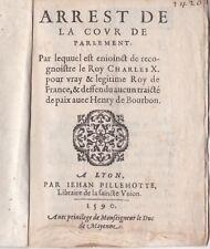 Sainte Ligue Charles X seul Roi 1590