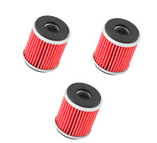 K&N OIL FILTER HIGH FLOW REPLACEMENT 3 PACK YAMAHA RAPTOR 250 2008 - 2013 KN-140