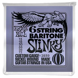 Ernie Ball Slinky 29-5/8 Scale Nickel Wound 6 String Baritone Guitar Strings