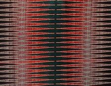 African Fabric 1/2 Yard Cotton Wax Print Dark GREEN WHITE RED Abstract TEXTURED