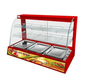 Commercial Red Hot Food Chicken Warmer Display Cabinet Showcase
