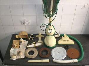 Vorwerk Bohnermaschine Poliermaschine Bohner Blocker mit Stiel und 4 Scheiben
