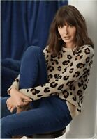 JEANSWEST | Womens Animal Print Pullover Jumper  [ Size XL or AU 16 ]