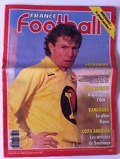 France Football du 13/11/1991; Fernandez/ Transfert/ Banlieues/ Copa America