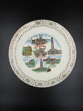 Louisiana Plate, ceramic plate, Vintage Louisiana plate, Landmark plate, retro