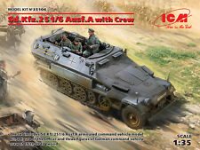 Sd.kfz.251/6 Ausf.a With Crew 1:35 Plastic Model Kit ICM