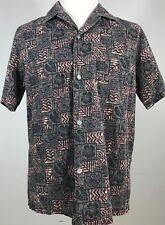 Howie Hawaiian Shirt Men's size M Tiki Multi-color Vintage 80s