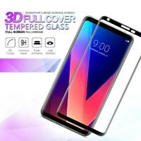 3D Curved Full Cover Screen Protector 9H Tempered Glass Film For LG V30