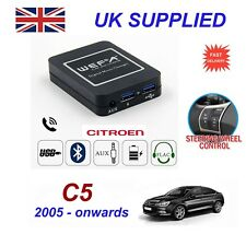 ForCitroen C5 Music Streaming Bluetooth Telephone Charger SD AUX CD Module RD4