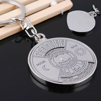 50 Years Perpetual Calendar Keyring Keychain Silver Alloy Key Chain Ring Hot