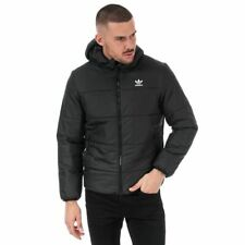 Men's adidas Originals Regular Fit Fleece Lined Padded Jacket in Black