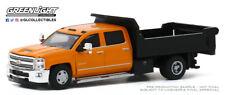 Greenlight 1:64 Dually Driver SR 4 2017 Chevy Silverado 3500 Dump Truck Orange
