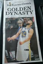 SF Chronicle Newspaper 2018 Golden State Warriors NBA Champs 6/9/18 Dynasty FULL