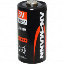 50x Ansmann 3V 1500mAh Lithium Battery CR123A CR123AS DL123A EL123A K123L