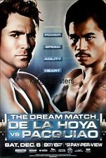 Original Vintage Oscar DeLaHoya vs. Manny Pacquiao Boxing Fight Poster