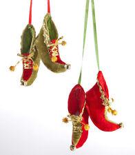 Beautiful Elf Shoe Christmas Ornaments Katherine's Collection 22-622002