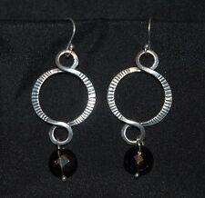 SILPADA - W1485 - Smoky Quartz Beads Sterling Silver Earrings - RET