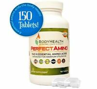 BodyHealth PerfectAmino Tablets - All 8 Essential Amino Acids with BCAA - 150 ct