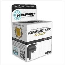 "Kinesio Tex Gold Wave - 2"" x 16.4' - BLACK - KIT 2PK"