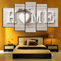 5 Panels Love Home Wall Picture Canvas Print Art Painting Decoration Unframed UK