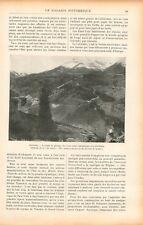 Train Denver and Rio Grande-Railroad Colorado/Mont Sainte-Croix USA GRAVURE 1905