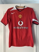 Manchester united 2002 2004 nike Football Home Shirt Red Vodafone