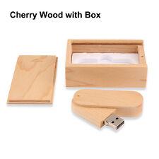 2016 New Wooden Box USB Flash Drive 8GB to 32GB USB 2.0 Memory Stick Flash Disk