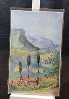 Antique, E.H.Lawson, Watercolor Painting ,Yucca in Colorado 1920s