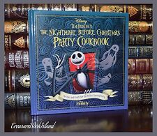 Tim Burton's Nightmare Before Christmas Party Cookbook New Hardcover Halloween