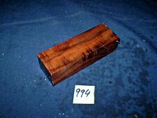 Nussbaum Maserholz Messergriffblock  Messergriff    120 x 40 x 30 mm     Nr: 994