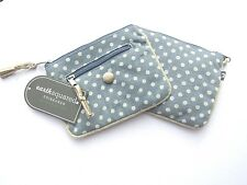 BRAND NEW EARTH SQUARED SKY BLUE SPOT EMILY COIN PURSE 14cms x 11cms  FAIR TRADE