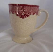 William Sonoma Heirloom Crimson Arbor Red One (1) Footed Mug Replacement NLA