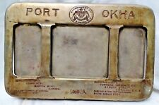BARODA STATE OKHA PORT DESKTOP BRASS CALENDAR COMMERCE DECORATIVE COLLECTIBLE