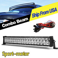 22 inch 280w led light bar + wiring kit offroad spot flood for jeep truck  atv