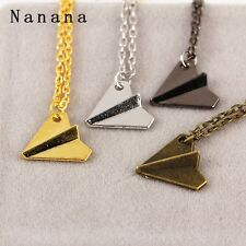 Combo Black+Silver+Gold+Bronze Band Harry Style Paper Plane Pendant Necklace