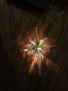 1996 FONTANINI HEIRLOOM BRASS FILIGREE NATIVITY STAR Roman