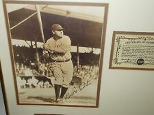 BABE RUTH Photo Print Set w/ Certificate of Authenticity by Delmar Watson- RARE