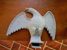 EAGLE Antique Americana Art gray Cast Iron Bird Snow roof stop Guard home decor