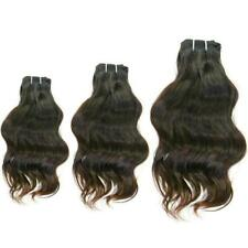 "Avant Human Hair Extensions 3 Indian Raw Wavy Virgin Remy Bundles 16"" 18"" 20"""
