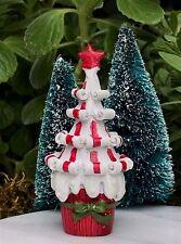 Miniature Dollhouse FAIRY GARDEN ~ Mini Glitter Snow CHRISTMAS Candy Cane Tree