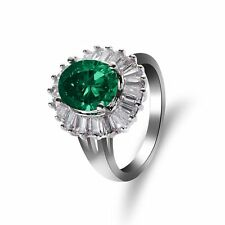 Other Fine Rings Hot Sale Attractive Green Crysoprase Gemstone 925 Solid Sterling Silver Ring Sz8 Fsj-1075