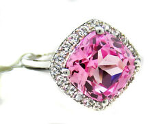 GENUINE 2.14 Cts PINK SAPPHIRE & DIAMOND RING 10K WHITE GOLD* New With Tag