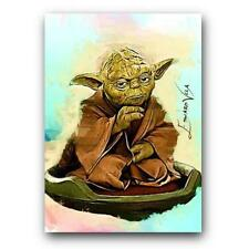 Yoda #7 Sketch Card ACEO Star Wars Limited Edition Artist Signed 23/25 COA