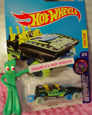 LOOPSTER #328✰black/yellow HANDS DOWN∞Rollercoaster∞Glow∞2017 Hot Wheels case Q