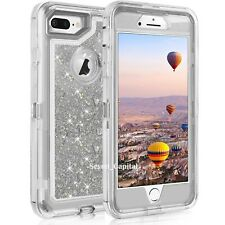 For iPhone 6S 7 8 Plus Defender Liquid Glitter Shockproof Protective Cover Case